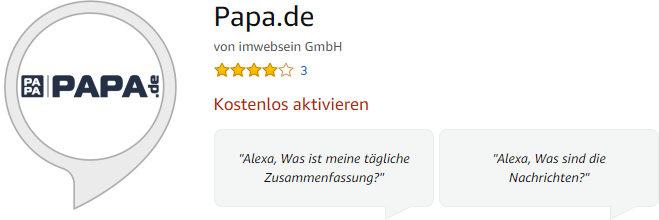 Papa.de Skill Amazon